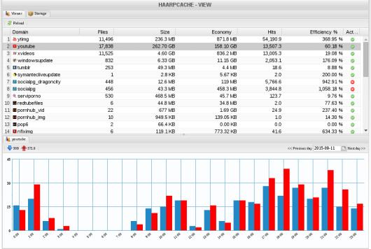 Estadísticas e historial por días de cada Domino.